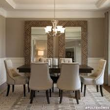 dining room wall decor with mirror. large mirrors in dining room, nice idea for a room that feels bit closed off. wall decor with mirror w