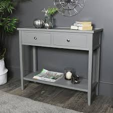 grey 2 drawer console table windsor