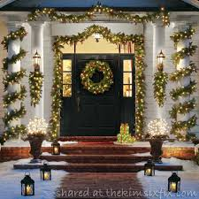 R Outdoor Christmas Decor Garland