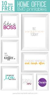 inspirational frames for office. FREE PRINTABLE DOWNLOAD: 10 Home Office 8x10 Printables To Inspire You, Put A Little Inspirational Frames For