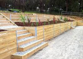 retaining walls wooden landscape timber retaining wall home