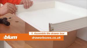 Kitchen Drawer Blum Metabox Shallow Replacement Kitchen Drawer Box 1 Of 3