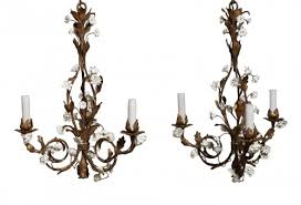 pair of small chandeliers late 19th century