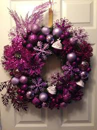 Made this purple, lavender snowflake n cupcakes Christmas Wreath 2day...all  decorations