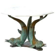 table coffee table turtle manufacturer wyland dolphin