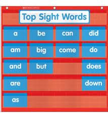 Word Wall Pocket Chart By