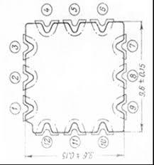 Реферат Технологический процесс изготовления микромодуля  Микроплаты изготовляются из специальной керамики имналуид ультрафарфор и имеют квадратную форму рис 2 со стороной квадрата 9 6 0 1 мм