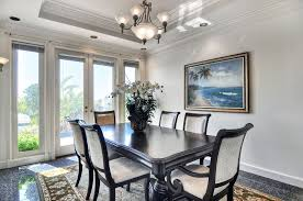 tropical dining room with crown molding lara langford zillow for awesome property bowl chandelier dining room remodel