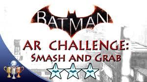 batman arkham knight smash and grab 3 stars predator ar challenge