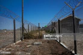 barbed wire fence prison. Barbed Wire Fence Robben Island Prison Table Bay Cape Town South Africa Stock Photo | Getty Images
