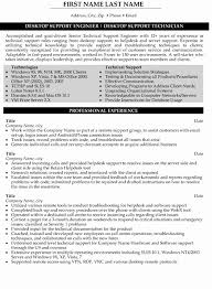 Resume format for Experienced Technical Support Unique Support Engineer Resume  Sample & Template