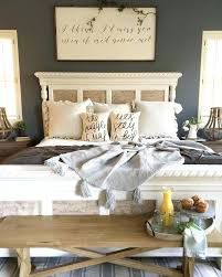 modern farmhouse bed like the bedroom color could paint my leave nightstands same add bench in