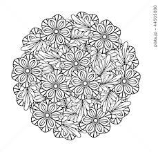 マンダラ 曼荼羅 曼陀羅 塗り絵のイラスト素材 Pixta