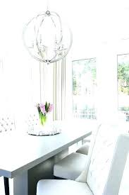 white beaded orb chandelier distressed wood pendant light brushed nickel gray dining table with chairs home