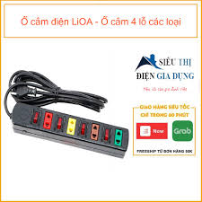 Ổ cắm điện LiOA - Ổ cắm 3 lỗ, 4 lỗ các loại - Ổ cắm điện