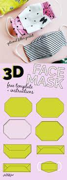 3d mask template the most fortable