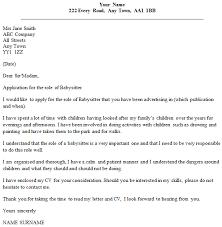 babysitting letter babysitter cover letter example icover org uk