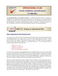 Operation Plan Outline 11 Annual Operational Plan Examples Pdf Word Pages Examples