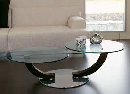 cobra inox coffee table with 2 swivelling glass tops