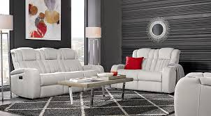 leather living room furniture sets. Shop Now. Servillo White Leather 2 Pc Living Room With Power Plus Reclining Sofa Furniture Sets S