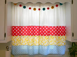 Red Curtains For Kitchen Red Kitchen Window Curtains Free Image