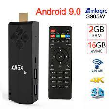 Original TV Stick A95X D1 TV Box Android 9.0 2GB 16GB 2.4G WIFI 4K HD BT  HDMI2.0 Amlogic S905W Smart Tvbox Dongle Media Player 1GB8GB Best Android  Tv Box Tv Box Android