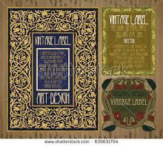 vector vine items label art nouveau