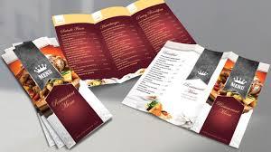Restaurant Menu Book Design Creative Restaurant Menu Photoshop Tutorial