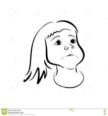 Sketchy Cute Girl Face Stock Vector Illustration Of Clean 73172281