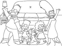 Simpsons Christmas Coloring Pages Royaltyhairstorecom