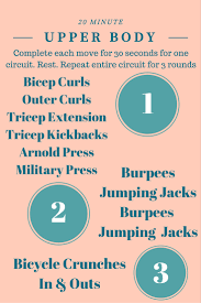 20 minute upper body circuit workout with weights