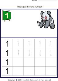 Number 1 Worksheets For Kindergarten Writing Number 1 Worksheets ...