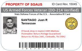 Card Introducing The Id – Member Veteran Premium And Sgaus New