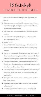 Tips For Cover Letter Writing The 24 BestKept Cover Letter Secrets Small Things Job Info And 22