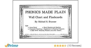 Amazon Com Phonics Made Plain Wall Chart And Flashcards