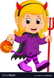 cute devil cartoon vector image