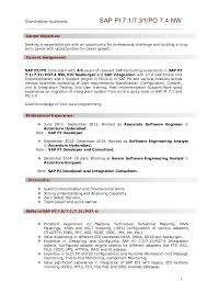 Accenture Analyst Sample Resume Inspiration ResumeSAP PI