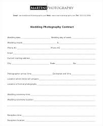 Food Contract Template Photography C Catering