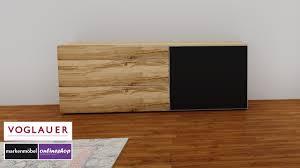 Voglauer V Alpin Sideboard Mit 3 Schubladen Und Schiebetüre Rechts 5 Verschiedene Akzente Möglich