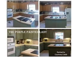 painted kitchen cabinets courtney crabb my customer the purple painted lady
