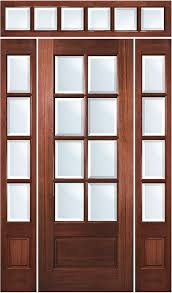 8 lite solid wood mahogany entry door with sidelites and transom