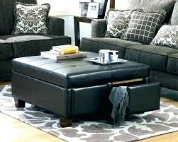 round black leather ottoman leather ottoman coffee table fancy black ottoman coffee table ottomans coffee table