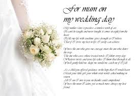 Poem From Mom To Daughter On Wedding Day Free Large Images
