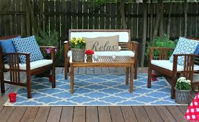 calming outdoor rug for patios with aqua blue geometric design full size