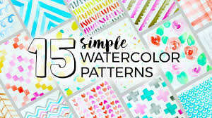 Paint Patterns Delectable 48 Simple Watercolor Patterns To Paint Sea Lemon YouTube