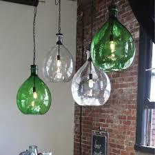 oversized glass pendant warm jar light antique farmhouse regarding 16