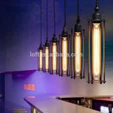pendant lighting edison. Industrial Black Long Cylindrical Pendant Lamp Classics Vintage Edison Style Light Bulb Lighting A