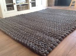 large size of chunky knit throw rug beautiful luxury thick hand loomed charcoal grey pleated wool