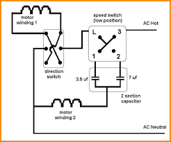 ceiling fan wiring diagram with capacitor 3 sd wire switch and in reverse on control ca