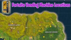 Vending Machine Locations Delectable Fortnite Vending Machine Locations Pinpointed On The Battle Royale Map